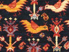 """Afghan Khamseh """"Chicken"""" rug"""