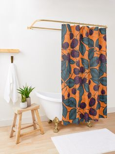 """""""Blackberry hand -drawn pattern"""" Shower Curtain by katerinamk Elegant Shower Curtains, Program Design, Lovely Things, Bath Towels, Blackberry, Hand Drawn, Nest, How To Draw Hands, Decor Ideas"""