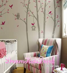 Owl Tree Wall Decal Nursery Baby children wall by DreamKidsDecal