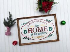 There's No Place Like Home for the Holidays, Vintage Style Christmas Decor Wood Sign, Gold Accents Rustic Bathroom Designs, Rustic Bathroom Decor, Bedroom Decor, Rustic Decor, Kitchen Decor, Custom Wood Signs, Rustic Signs, Christmas Signs Wood, Christmas Decorations