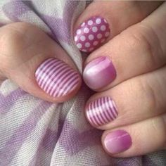 Orchid nail art by Jamberry. Easy to apply, no dry time, and no polish.