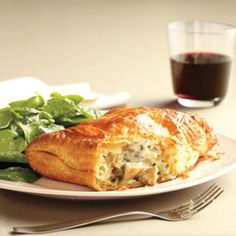 Mushroom Turnovers with Spinach Salad.