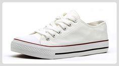 Zoro E02 Trendy Damen Freizeit Sneakers (EU 36-41) EU 38 Weiß - Sneakers für frauen (*Partner-Link)