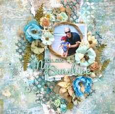 Layout made with Blue Fern Wanderlust collection and 2Crafty Chipboard