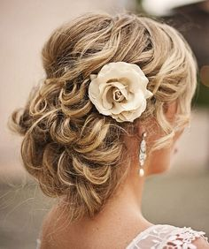 curly wedding updos, curly wedding hairstyles, wavy wedding hair - curly wedding updo