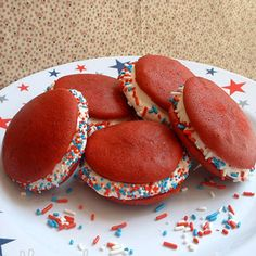 Fourth of July Desserts: Red Velvet Whoopie Pies