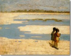 Triantafillidis Theophrastus-Two kids on the beach 1919 Beach Kids, Greece, Around The Worlds, Amazing, Painting, Beautiful, Artists, Crafts, Paint