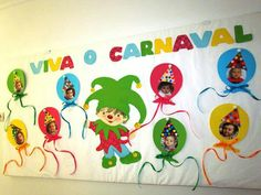 Children's Day Activities, Carnival Activities, Carnival Crafts, Christmas Activities For Kids, Crafts For Kids, Hobbies And Crafts, Arts And Crafts, Theme Carnaval, Decoration Creche