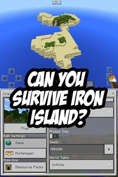 Can you survive iron island? Survival island seed for Minecraft PE: NAKNAK
