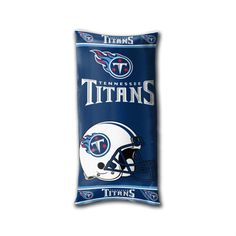 [[start tab]] Description Relax and watch the game in style with one of these generously sized, cushiony Tennessee Titans NFL Folding Body Pillows. This Folding Body Pillow has two fabric fastener str
