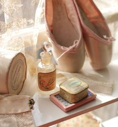 Lovely pink ballet pointing shoe like my mother had when she danced as a young woman.