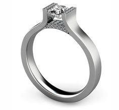 Platinum diamond engagement ring designed by Andrew Geoghegan (and his Facebook fans!)