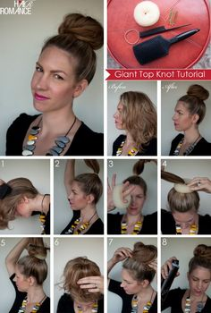 Hair-Romance-Big-Bun-Tutorial-Collage