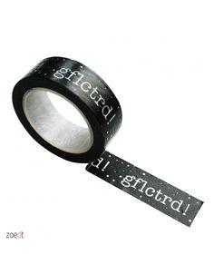 Zoedt Masking tape zwart met witte tekst GFLCTRD!