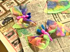 The amazing art community at the Art Junction made butterfly crafts using our R2450 Bug Bodies during one of their family days! See more of their brilliant artwork at the Art Junction blog!