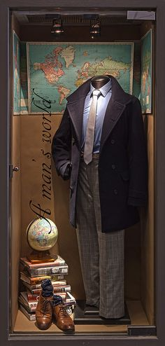Menswear Window Displays 2015. Visual Merchandising Arts, School of Fashion at Seneca College.