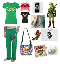 """""""Legend of Zelda"""" by pjax2 ❤ liked on Polyvore featuring Nintendo, women's clothing, women's fashion, women, female, woman, misses and juniors"""