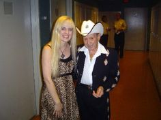 Little Jimmy Dickens and little Jennifer Brantley backstage at the Opry