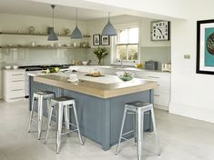 Edmondson Interiors designed and installed a stylish bespoke contemporary hand painted kitchen in a Kent country family home in a palette of grey and touches of green. A beautiful Contemporary Classic, Kitchen Paint, Country Kitchen, Kitchen Interior, Home Projects, Home And Family, Interior Design, Interiors, Table