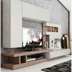 These are great for spacious open layout homes as they help create a focal point in the main room and occupy all of that empty wall space with the help of Modern TV Cabinet Design Modern Tv Cabinet, Modern Tv Wall Units, Tv Cabinet Design, Modern Cabinets, Modern Wall, Console Cabinet, Tv Cabinets, Modern Living, Wall Unit Designs