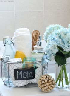 Recreate this stay-at-home spa basket for Mother's Day by combining @homegoods accessories your mom loves! sponsored pin