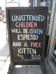 Sign  outside a store