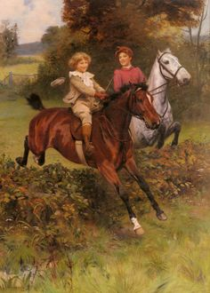 """""""His First Fence,"""" by Arthur John Elsley (1860--1952, English)"""
