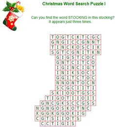Printable Christmas word puzzles December Pinterest
