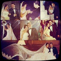 صورة مجمعة لزفاف الفنانة دنيا سمير غانم و الأعلامى رامى رضوان