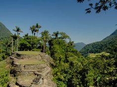 Ciudad Perdida, Sierra Nevada de Santa Marta. Durante su apogeo la ciudad pudo llegar a albergar 3.000 habitantes. Hoy se conservan solo las terrazas y los accesos de piedra.