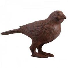Esschert Design Cast Iron Decorative Bird for sale online Stone Garden Statues, Frog Statues, Gnome Statues, Rooster Statue, Cat Statue, Cast Iron, It Cast, Fallen Fruits, Esschert Design