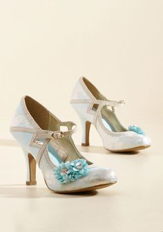 Charming Capers Mary Jane Heel in Bridal Blue