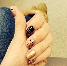 #nails #art #design #gold #black #nailsart #nailsdesign #colors #summer