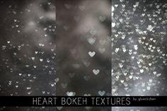 Heart Bokeh Textures. by ~gloeckchen on deviantART #photoshop #bokeh