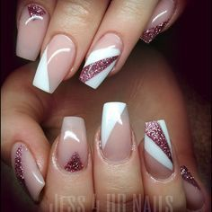 """If you're unfamiliar with nail trends and you hear the words """"coffin nails,"""" what comes to mind? It's not nails with coffins drawn on them. It's long nails with a square tip, and the look has. Cute Acrylic Nails, Acrylic Nail Designs, Nail Art Designs, Trendy Nails, Stylish Nails, Hair And Nails, My Nails, Diva Nails, Nails Factory"""