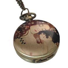 Collar reloj La maternidad de Klimt