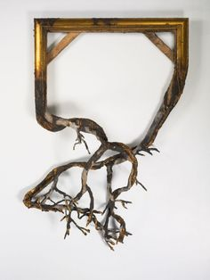Awesome Installations from Artist Valerie Hegarty. Unearthed Wood and mixed media. Art Sculpture, Sculptures, Decay Art, Instalation Art, Wow Art, Art Plastique, Framed Art, Picture Frames, Contemporary Art