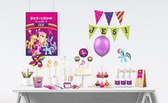 Kit imprimible Mi pequeño pony - #cumpleaños #eventos #fiestas #party My little Pony #birthday - Celebrando Fiestas