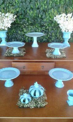 Decoração Porcelana Azul