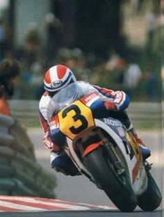 FREDDIE SPENCER subiendo Eau Rouge en 1983, Spa Francorchamps.