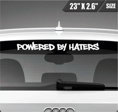 Locally Hated Windshield Decal Sticker Script JDM Race Drift Honda Acura Euro