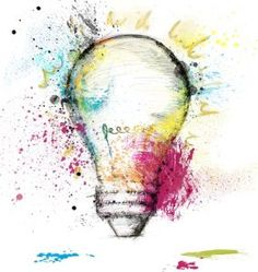 Paint light bulb symbol of smart idea. Mind Map Art, Kreative Mindmap, Light Bulb Symbol, Mind Map Design, Mind Map Template, Gcse Art Sketchbook, Sketchbooks, A Level Art, Identity Art