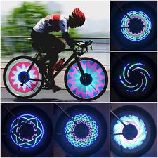16 LED Motorcycle Cycling Bike Bicycle Tire Wheel Valve Flash Light 32 Changes