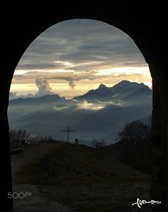 Sunset in SanPellegrino in Alpe - Sunset in the Appenines over my valley