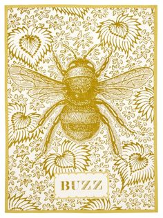 Buzz Tea Towel