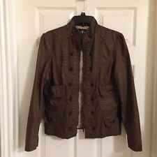 AUTHENTIC ICON American Idol Brown Military Type Jacket
