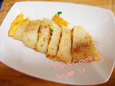 古早味脆皮手工蛋餅食譜、作法 | ::粉紅小廚::喵小V::的多多開伙食譜分享