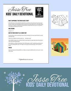 Crazy Kids Bible Devotional: Jesse Tree Day 4 | My Favorite Kind of Crazy