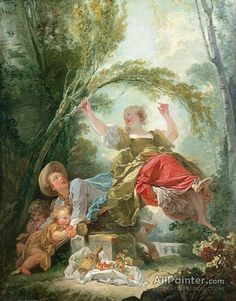 Jean Honore Fragonard,The See-saw oil painting reproductions for sale