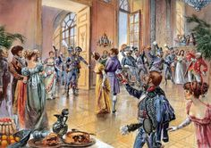 The impish Colonel Lasalle in full dress uniform of the 10th Hussards, at the wide open door to the ballroom, about to enter into the heart of the Prefecture of Agen